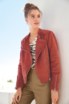 8df242db100 Suedette Collarless Jacket