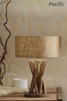 Derna Driftwood and Natural Jute Table Lamp by Pacific Lighting