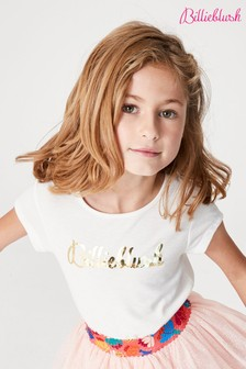 Белая футболка с логотипом Billie Blush