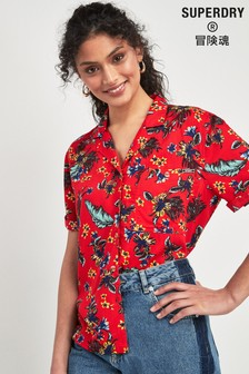 Superdry Red Tropical Shirt