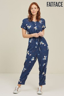 FatFace Indigo Astra Water Floral Jumpsuit