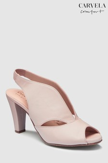 Carvela Comfort Nude Leather Arabella Heeled Sandals