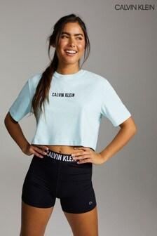 Calvin Klein Blue Open Back Cropped T-Shirt