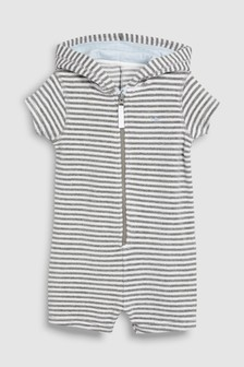 Stripe Towelling All-In-One (3mths-8yrs)