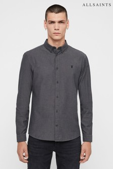 AllSaints Charcoal Sulzer Shirt