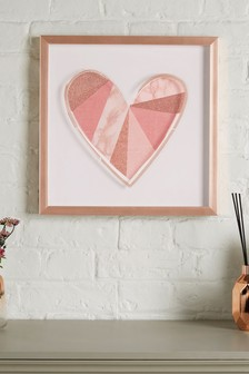 Small Heart Framed Art