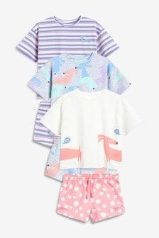 Три пижамы с шортами (3-16 лет)
