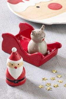Ceramic Santa Salt And Pepper Set