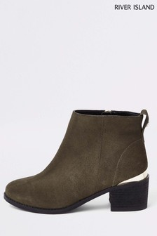 River Island Green Suede Boot