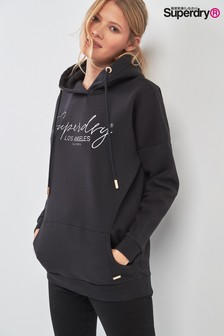 Superdry Black Alice Boyfriend Hoody