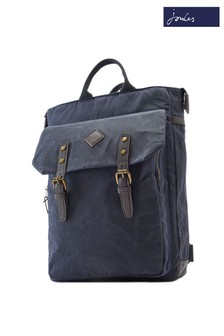 Joules Kirkland Mens Waxed Canvas Backpack