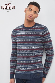 Hollister Navy Fair Crew Knitted Jumper