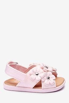 Ružové sandále s kvietkami UGG®