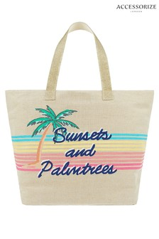 Accessorize Sunset And Palm Trees Beach Tote Bag