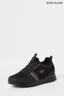 River Island Black Bee Trainer
