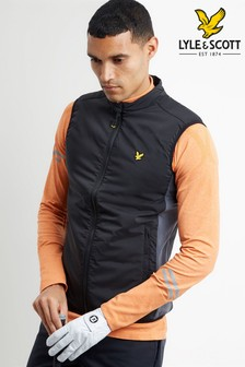 Lyle & Scott Golf Black Gilet