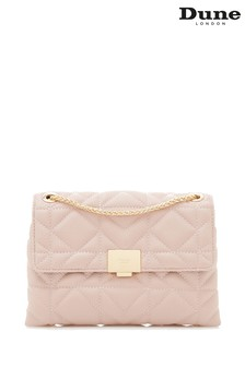 Dune Accessories Pink Quilted Lock Feature Shoulder Bag