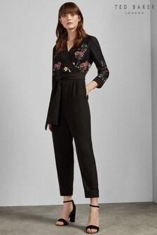 Ted Baker Black Eunice Oracle Pyjama Jumpsuit