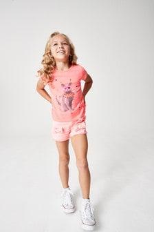 Розовая футболка с котом и логотипом Billie Blush