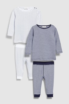 Star Print T-Shirts And Leggings Mix And Match Four Pack (0mths-2yrs)