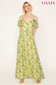 Oasis Yellow Provence Floral Maxi Dress