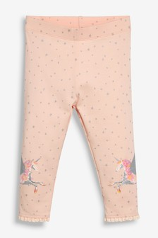 Unicorn Embroidered Leggings (3mths-7yrs)