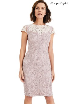 Phase Eight Pink Jana Tapework Dress