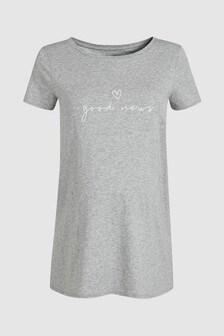 T-Shirt mit dem Slogan Good News, Umstandsmode