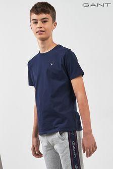 GANT Original T-Shirt, Marineblau, Teenager
