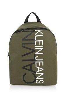 Calvin Klein Jeans Boys Khaki Logo Backpack