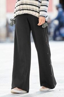 Popper Detail Trousers