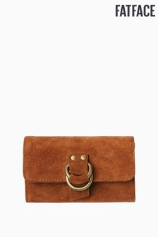 FatFace Brown D-Ring Buckle Suede Purse