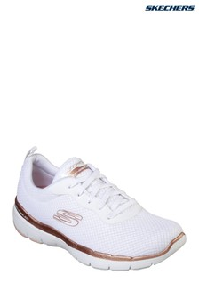 Skechers® White And Gold Flex Appeal 3.0 Trainer