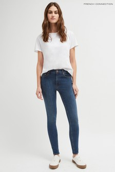 French Connection R Rebound 30 Skinny-Jeans, Vintage-Blau