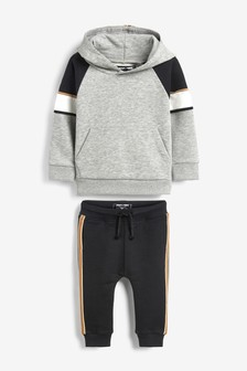 Colourblock Hoody and Joggers Set (3mths-7yrs)