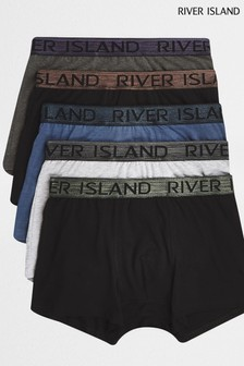 River Island Multi Boxer Five Pack