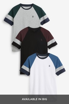 Raglan T-Shirts Three Pack