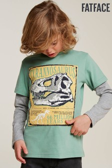 FatFace Green Nhm 2-In-1 Graphic Tee