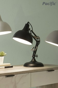 Pacific Black Task Table Lamp