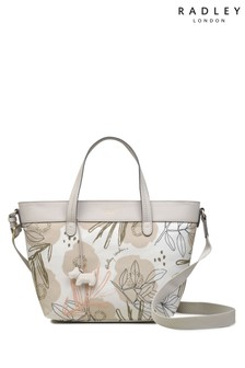 Radley London White Desert Floral Medium Zip Multiway Bag