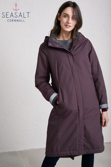 Seasalt Purple Dark Hellebore Janelle 2 Coat