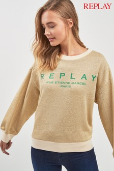 Replay® Gold Metallic Sweat