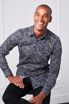 Slim Fit Floral Print Shirt