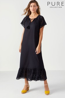 Pure Collection Cotton Embroidered Maxi Dress