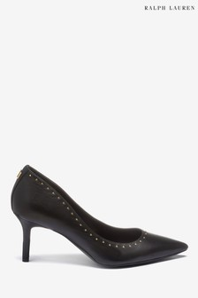Ralph Lauren Black Stud Court Shoe