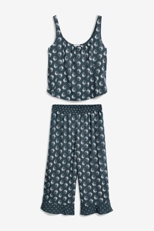 Woven Ruffle Vest Pyjamas