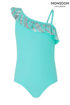 Monsoon Malibu Stripe Frill Swimsuit