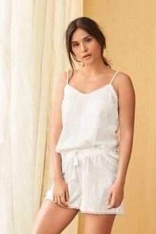 Textured Cotton Cami Short Set