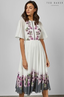 Ted Baker Ivory Floral Maxi Dress