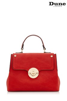 Dune Accessories Red Small Doting Tote Bag